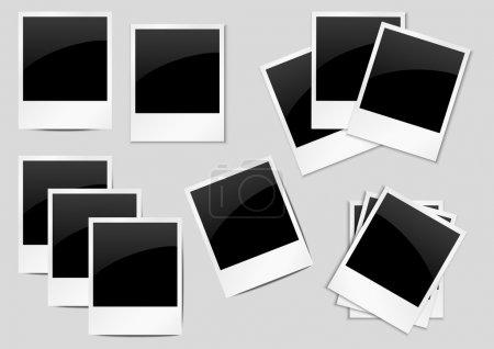 Ilustración de Conjunto de antecedentes de polaroid para su diseño - Imagen libre de derechos