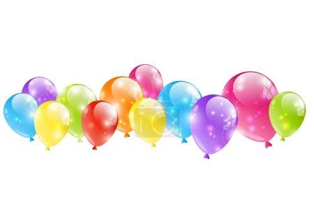 Illustration for Shiny balloon border on white - Royalty Free Image