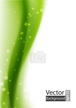 Illustration for Green abstract background with place for text - Royalty Free Image