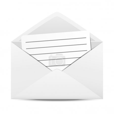 Envelope with paper sheet