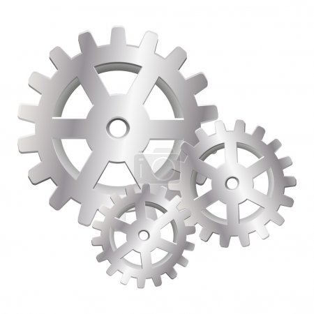 Illustration for Gear icon isolated on white - Royalty Free Image