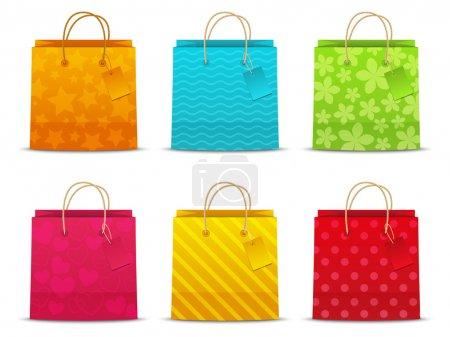 Illustration pour Ensemble de sacs à provisions couleur - image libre de droit