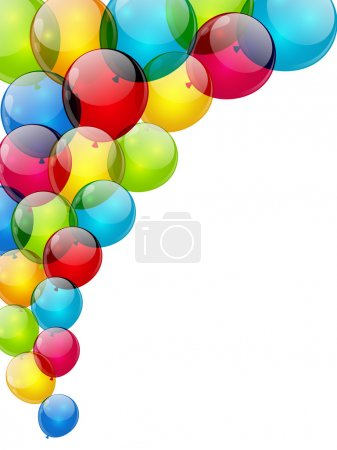 Illustration for Color background with glossy balloon - Royalty Free Image
