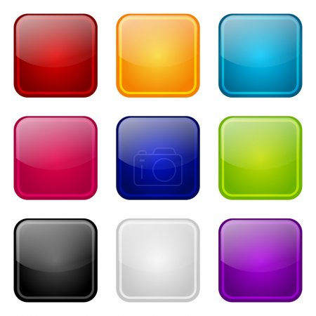Illustration for Set of apps color icons - Royalty Free Image