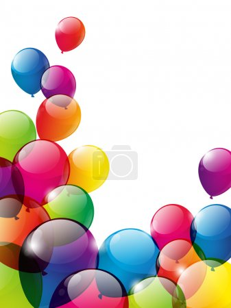Color balloons background