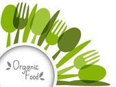 Organic food background with place for text