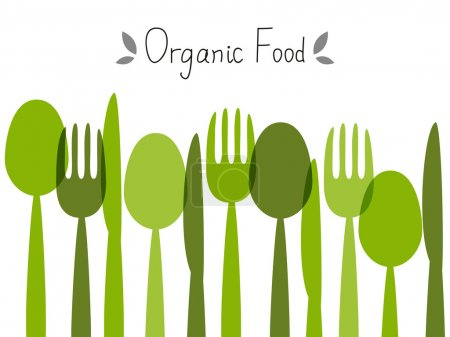 Illustration for Organic food background with place for text - Royalty Free Image