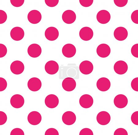 Illustration for Polka dot vector seamless pattern - Royalty Free Image