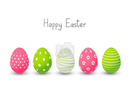 Illustration for Easter eggs on white background - Royalty Free Image
