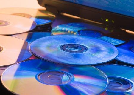 Laptop with CD discs