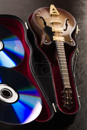 Discs and guitar