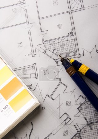 Photo pour Plan d'architecture - image libre de droit