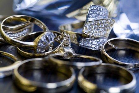 Rings with diamonds