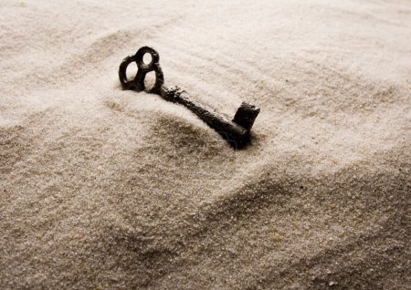 Key in the sand