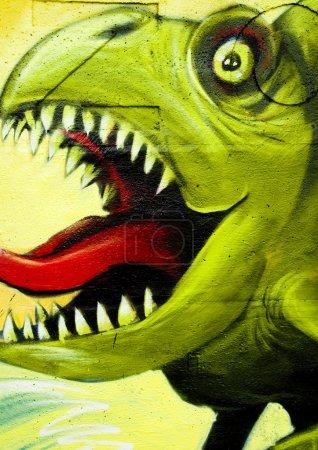 Dinosaurs graffiti
