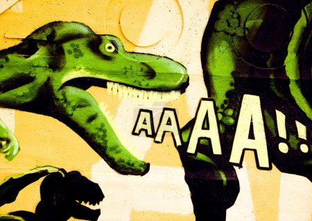 Dinosaur graffiti