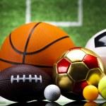Sports balls, a lot of balls and stuff...
