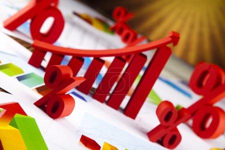 Photo pour Diagramme d'affaires, croissance, graphique, flèche - image libre de droit