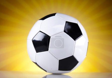 Soccer balls and sunset