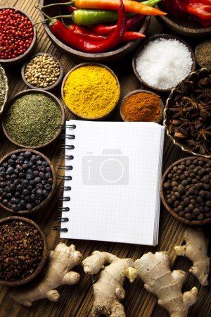 Cookbook and spices