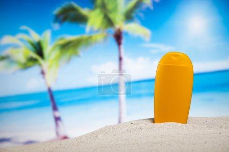 Sun tan on beach
