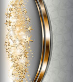 Abstract background with gold stars for Christmas and New Year design vector