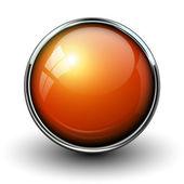 """Постер, картина, фотообои """"оранжевый блестящий кнопка"""""""