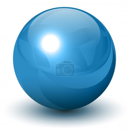 Illustration for Blue metallic sphere - Royalty Free Image