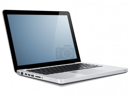 Illustration for Laptop, modern computer - Royalty Free Image