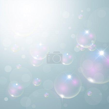 Illustration pour Fond de bulles abstraites - image libre de droit