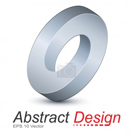 Illustration for Logo ellipse, impossible vector object. - Royalty Free Image