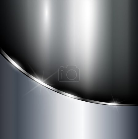 Illustration for Metallic background polished steel texture, vector. - Royalty Free Image