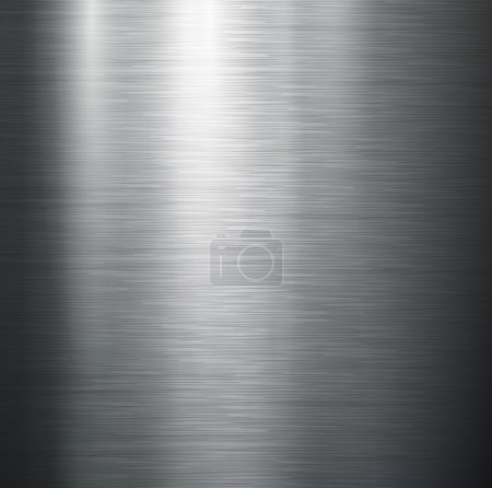 Illustration for Vector polished metal, steel texture. - Royalty Free Image