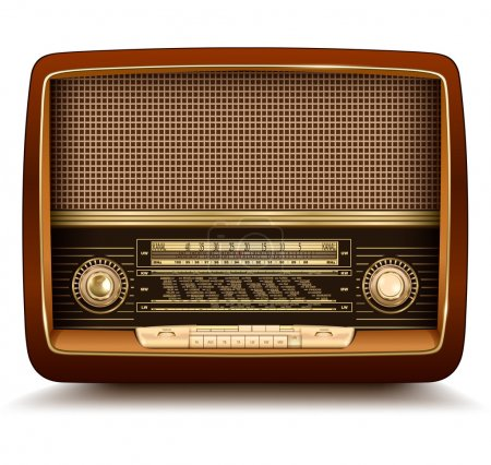 Radio retro, realistic vector illustration....