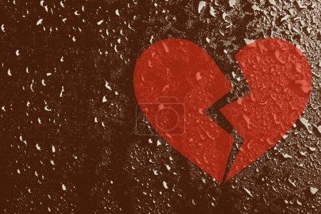 Conceptual broken heart
