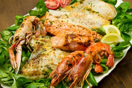 Photo for Mixed seafood grill - Royalty Free Image