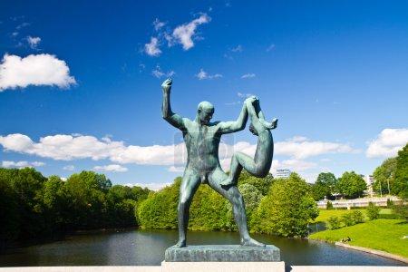Photo pour Sculptures dans le parc Vigeland Oslo Norvège - image libre de droit