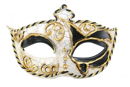 Carnival mask isolated on pure white background