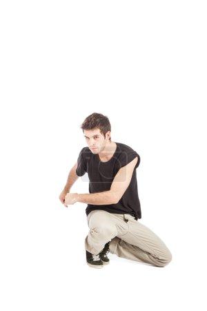Breakdancer with black shirt