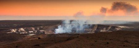 Halemaumau Crater At Sunset