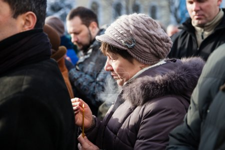Requiem on Euromaidan activist Michail Zhiznevsky