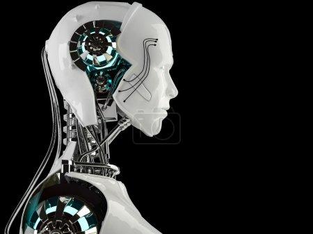 Photo pour Hommes d'android robot isolés - image libre de droit