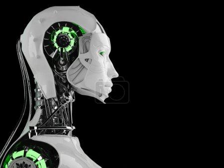 Photo pour Femmes d'android robot isolées - image libre de droit