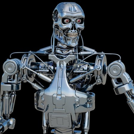 Photo for Robot isolated - Royalty Free Image