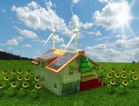 Foto de Casa concepto de ahorro de energía - Imagen libre de derechos