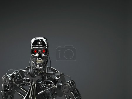 Photo for Robot terminator background - Royalty Free Image
