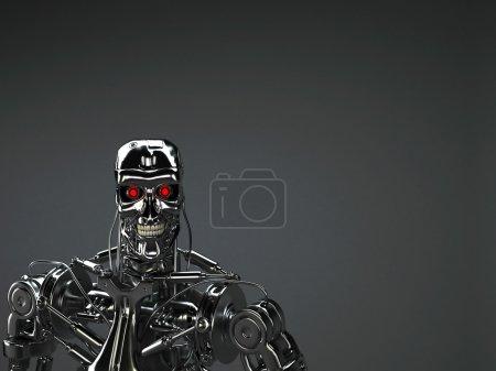 Photo pour Fond de robot terminator - image libre de droit