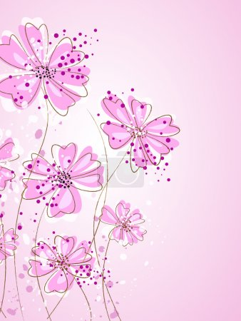 Artistic pastel flowers