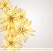 vector background with Flower 02