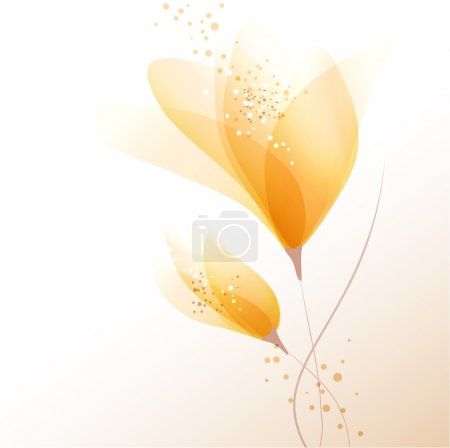 Illustration for Vector background with pastel flowers - Royalty Free Image
